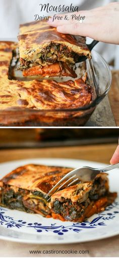 """Moussaka is brilliant as it's so adaptable! We've made it healthy (paleo & dairy-free) with layers of veggies, hearty beef and a cauliflower """"cheese"""" sauce. 