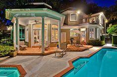 Gorgeous backyard pool/gazebo and house