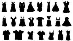 75 Beautiful Dress Silhouette Vector Graphics