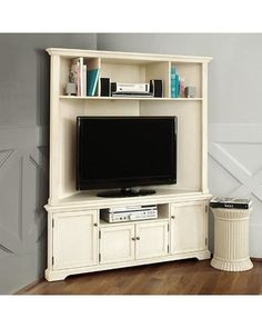 Corner fireplace tv stand ideas bedroom wall mount stylish best entertainment center images on decorating amusing id Corner Media Cabinet, Corner Tv Cabinets, Corner Armoire, Corner Hutch, Corner Storage, Room Corner, Tv Storage, Storage Ideas, Corner Entertainment Unit
