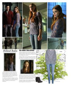 """Holland Roden as Lydia Martin. [Teen Wolf - 6.13 ""After Images""]"" by albacampbell ❤ liked on Polyvore featuring Vince Camuto"