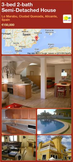 New build properties for sale Murcia. New build and resale property agents in the Costa Blanca, Costa Calida and Murcia areas in Spain Semi Detached, Detached House, Valencia, Portugal, Murcia, Alicante, New Builds, Property For Sale, Costa