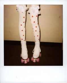 heart tights and roller skates cute for valentines day if its still chilly