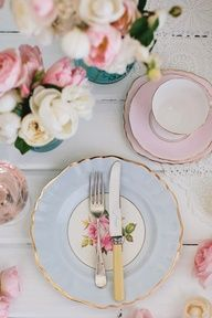 Blushing and Sweet - I love this tablescape-Beautiful.....