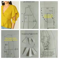 Corset Sewing Pattern, Dress Sewing Patterns, Blouse Patterns, Clothing Patterns, Sewing Sleeves, Baby Girl Dress Patterns, Sewing Blouses, Fashion Design Drawings, Sewing Basics