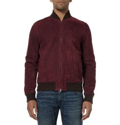 Gucci Suede Bomber Jacket