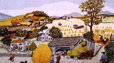 """In Harvest Time"", Grandma Moses"