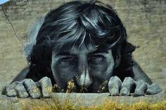 Realistic street art