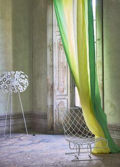 Savoie lemongrass wide width ombre fabric