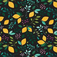 Carly Watts Art & Illustration: Lemon Grove #lemons #pattern #surfacepattern #repeatpattern #textiledesign #citrus #summer #illustration