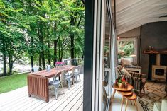The secluded cabin has a cosy interior and lakeside views. Secluded Cabin, Lakeside Cabin, Cosy Interior, Open Plan Kitchen Living Room, European House, Lake Cottage, Step Inside, Cabins In The Woods, Beautiful Homes