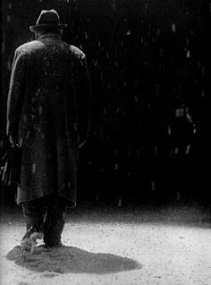 Takashi Shimura as Watanabe, the bureaucrat doomed to die from cancer, in Ikiru (1952, dir. Akira Kurosawa)