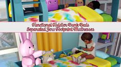 Sims 4 CC's - The Best: Functional Toddler Bunk Bed Frame & Zero Footprint...