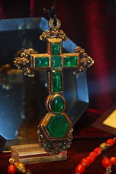AtochaTreasure recovered from the Spanish treasure ship the 'Atocha'; pendant in gold with emeralds c. late 17th century.