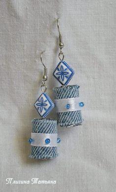 Beads of jeans. - Fair Masters - handmade, handmade