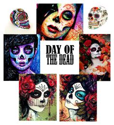 Untitled #4385 by angiemine213 on Polyvore featuring art and Dayofthedead