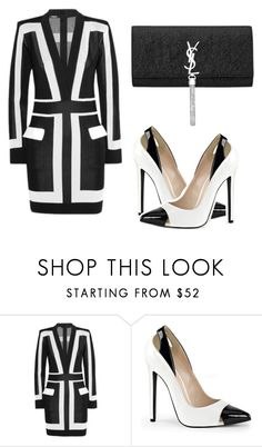 """Color block sensation"" by tinakini ❤ liked on Polyvore featuring Balmain and Yves Saint Laurent"