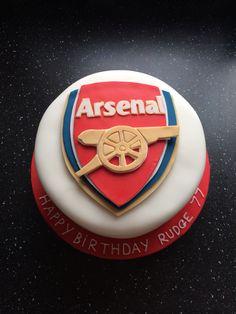 Arsenal football club , birthday cake