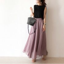 Pin by Kasia Pelc on Za kolano in 2019 Korean Fashion Trends, 2020 Fashion Trends, Fashion 2018, Fashion Models, Fashion Dresses, Skirt Fashion, Long Skirt Outfits, Chic Outfits, Girl Fashion Style