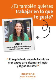 Anna estudió en MasterD Zaragoza su Máster de Veterinaria Madrid, Anna, Zaragoza, Goals