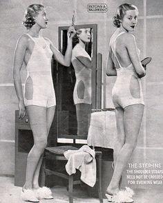 Vintage vest, panties and step-ins - free vintage knitting pattern   Knitting naughty underwear again Zoot?