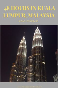 When visiting Kuala Lumpur many people don't spend long in Malaysia's Capital so here is a KL itinerary for spending 2 days in Kuala Lumpur. How to see Kuala Lumpur in 48 Hours: An Itinerary. #VisitKL #KualaLumpur  Explore the best of the city in this Kuala Lumpur 2 Day Guide and Itinerary. Travel Goals, Travel Advice, Travel Around The World, Around The Worlds, Working Holidays, Best Places To Travel, Cheap Travel, Kuala Lumpur, Carpe Diem
