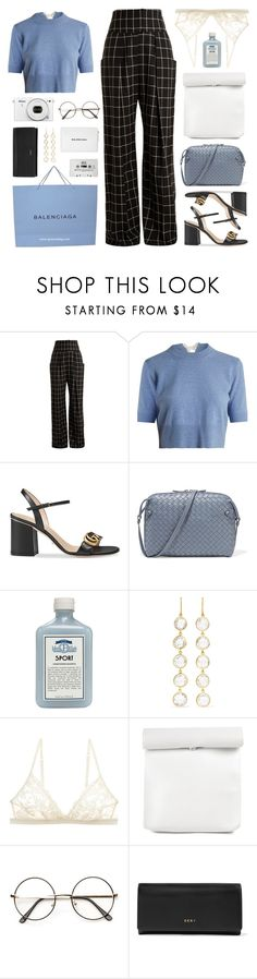 """""""sometimes, the sun sets earlier. days don't last forever, you know. but i'll fight as hard as i can. i can promise you that."""" by yuelle ❤ liked on Polyvore featuring Preen, Altuzarra, Gucci, Bottega Veneta, John Allan's, Pippa Small, Cosabella, Nikon, DKNY and Balenciaga"""