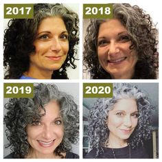 Curly Silver Hair, Curly Hair With Bangs, Curly Hair Tips, Curly Hair Styles, Natural Hair Styles, Natural Curls, Lilac Hair, Pastel Hair, Green Hair