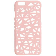 Miss Selfridge Cut Out Phone Case ($15) ❤ liked on Polyvore featuring accessories, tech accessories, pink and miss selfridge