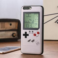 Retro GB Gameboy Tetris Phone Cases For iPhone 6 7 8 Plus 11 Pro X XS XR Max Soft TPU Can Play Blokus Game Console Cover-in Fitted Cases from Cellphones & Telecommunications on AliExpress Game Boy, Iphone 6, Iphone Cases, Silicone Phone Case, 6s Plus Case, Iphone Models, Console, Smartphone, Phone Cases