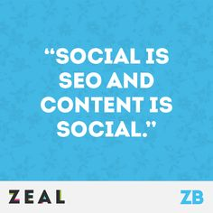 """Social is SEO and Content is Social"" #Quote #Marketing #SEO #Content #SocialMedia"