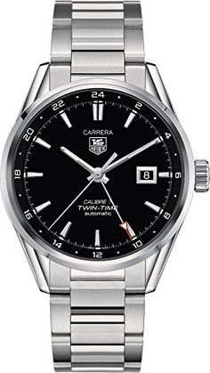 TAG Heuer Mens WAR2010BA0723 Carrera Analog Display Swiss Automatic Silver Watch * You can find more details by visiting the image link. This Amazon pins is an affiliate link to Amazon.