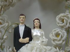 Vintage Wedding Cake Topper 1940s Ivory by Alicesmourningdoves, $50.00