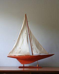vintage model sail boat