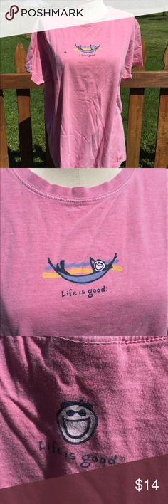 Life is Good Shirt Size Large Size large. Gently preowned. Be sure to view the other items in our closet. We offer both women's and Mens items in a variety of sizes. Bundle and save!! Thank you for viewing our item!! Life is Good Tops Tees - Short Sleeve