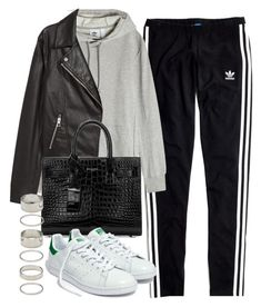 """Sin título #14409"" by vany-alvarado ❤ liked on Polyvore featuring Madewell, adidas Originals, H&M, Yves Saint Laurent and Forever 21"