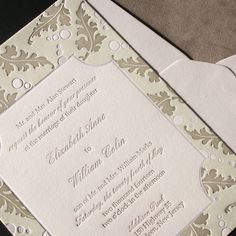 Wedding invitation with song lyrics printed on cover by real card alberta leaves letterpress wedding invitation by plum blossom press customize yours with paper stopboris Images