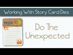 Do the Unexpected - featuring the Story Card steel dies...using photo corners in unexpected ways