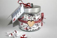 DIY, Basteln: 365 Gründe warum ich dich liebe Glas in Liebesgeschenk und Geschenkideen - DIYCarinchen