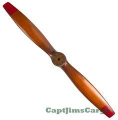 "CaptJimsCargo - WWI Wooden Airplane Propeller 47"" Aviation Flight Decor, (http://www.captjimscargo.com/authentic-models-home-decor/airplane-aviation-ww1-propellers/wwi-wooden-airplane-propeller-47-aviation-flight-decor/)"