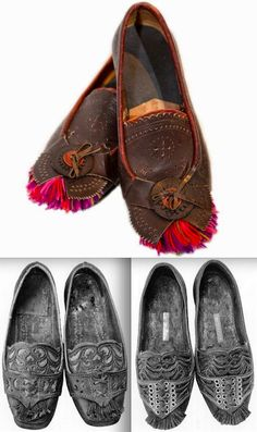 East Telemark, Norway, socks and shoes for Raudtroje and Beltestakk Fashion History, Fashion Art, Womens Fashion, Traditional Dresses, Traditional Art, Danish Culture, Norway Viking, Antique Clothing, Folk Clothing