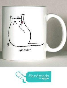 Cat Mug, Cat Humor Mug, Personalized Cat Mug, Personalized Cat Gift, Made to Order, Add Name or Message from ArtByJulene https://www.amazon.com/dp/B015TK9TT8/ref=hnd_sw_r_pi_dp_w5WRxb135HRK0 #handmadeatamazon