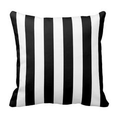 Black and White Striped Pillow $29.95