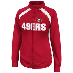 I NEED THIS =) San Francisco 49ers Red Women's Counter II Full-Zip French Terry Fleece Jacket