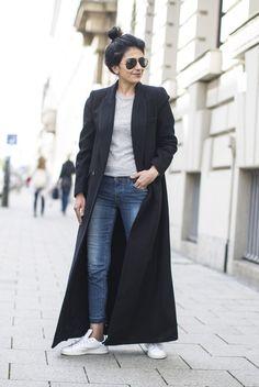 fashion-landscape.com   Reformation coat, Adidas Stan Smith Sneakers #floorlengthcoat #fashionlandscape