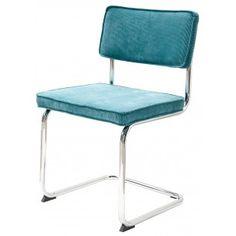 Matz - Rib stoel - Blauw   Eyoba.nl