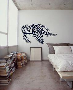 Large Hawaiian Sea Turtles Cruisin - Surf Art Culture - Roxy Billabong Retro decor - Vinyl wall art graphic decals by 3rd Ave Shore