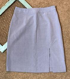 Merona Womens Size 6 Skirt Light Gray Vented Career Business Work Uniform Sexy  | eBay
