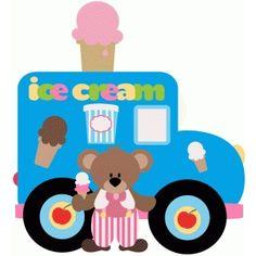 Silhouette Design Store: ice cream truck and bear