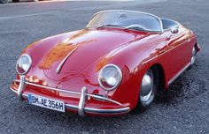 Porsche 356 Speedster, the very first Porsche, based on the VW Beatle.